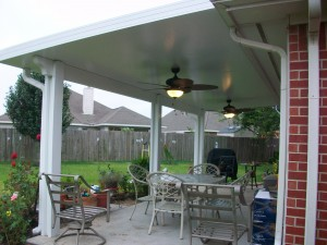 Houston Patio Covers With Insulated Roof Panel And Outdoor Ceiling Fans