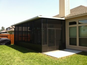 Bronze Screened Patio In Pearland