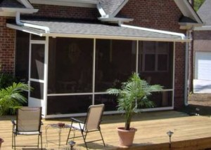 Conroe Screen Rooms With Covered Patio