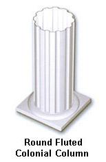 Colonial Custom Columns