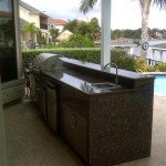 Granite Outdoor Kitchen in Houston