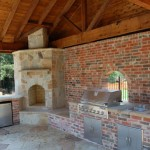 Cedar Patio Cover & Outdoor Kitchen in Houston