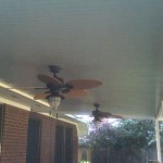 Aluminum Covered Patio With Ceiling Fans in Houston