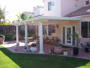 Patio Cover With Round Columns in Crosby