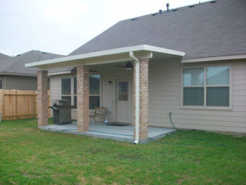Patio Covers In Houston With Brick Columns