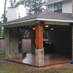 Custom Covered Patio With Concrete in Houston