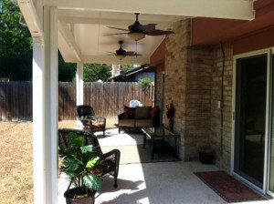 Spring Patio Cover With Ceiling Fans