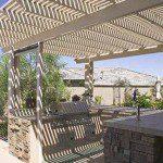 Aluminum Pergola with Outdoor Kitchen