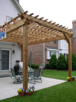 Houston Pergola Made of Wood