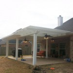 Backyard Pergola with Patio Cover in Tomball