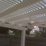 Ceiling Fan Installed With A Pergola