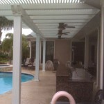 Alumawood Pergola in The Woodlands With Summer Kitchen
