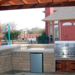 Custom Pergolas With Summer Kitchen in Houston