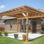 Freestanding Cedar Pergola in Sugar Land TX