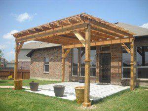 Freestanding Cedar Pergola in Tomball