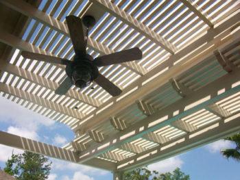 Houston Pergola With Ceiling Fan Lone Star