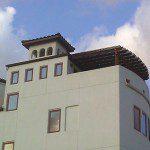 Rooftop Pergola Built in Houston