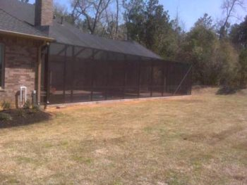 Pool screen enclosure in conroe lone star for Pool enclosures houston