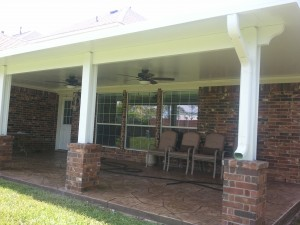 Aluminum Patio Cover in Magnolia by Lone Star Patio Builders